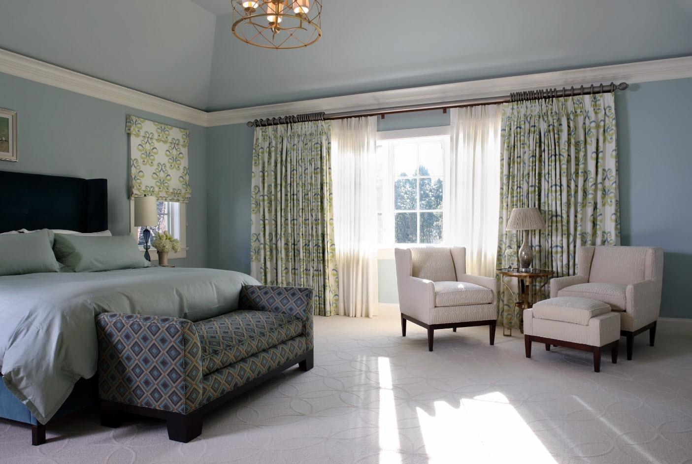 Стиль арт-деко шторы в спальню